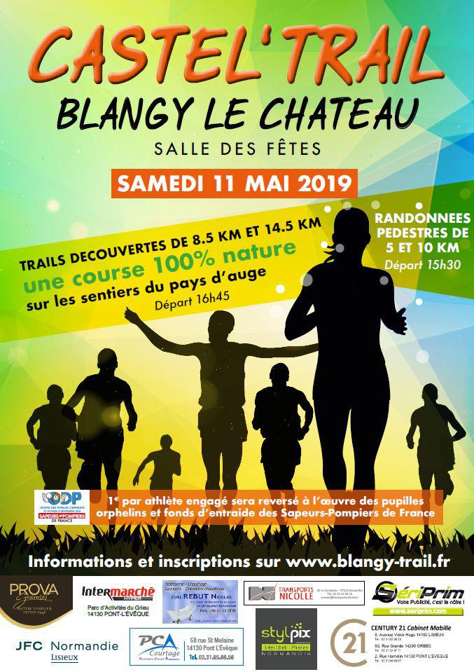 Affiche du Castel trail de Blangy le Château